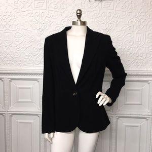 NWT Escada Black Textured Structured Blazer